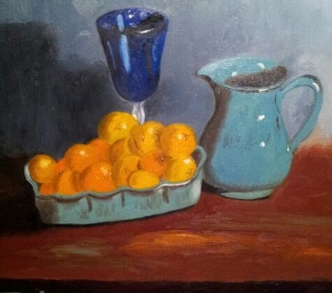 """Darlin' Clementines"" original fine art by Bob Blackmon"