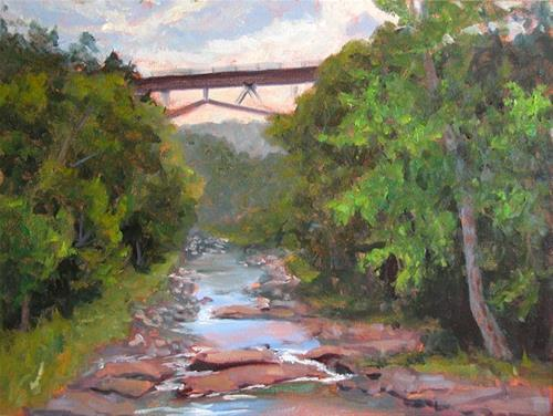 """Kaaterskill Creek from the Bridge"" original fine art by Jamie Williams Grossman"