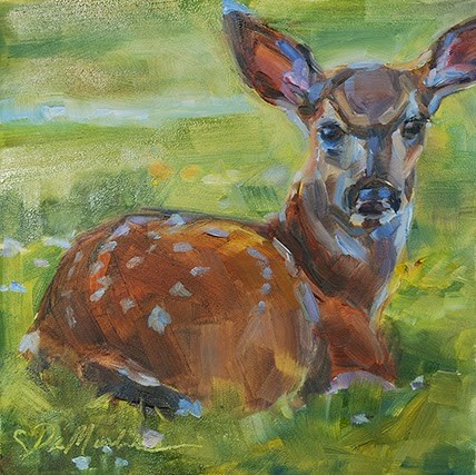 """Spring Babe"" original fine art by Carol DeMumbrum"