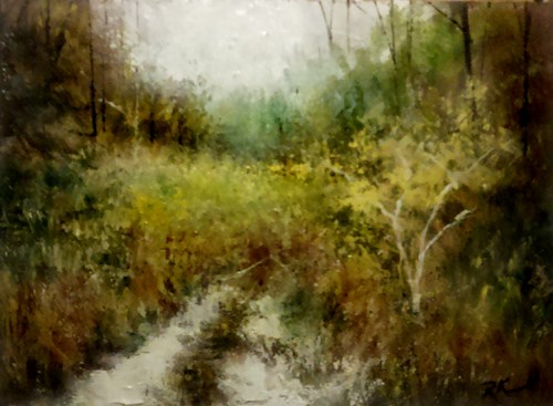 """Overgrown Road"" original fine art by Bob Kimball"