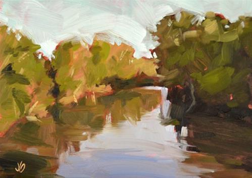 """White River Serene"" original fine art by Jessica Green"