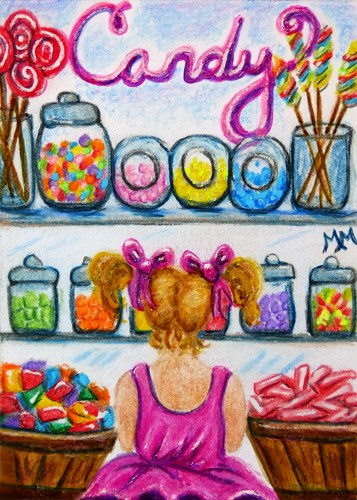 """Candy Shoppe  -  MM03"" original fine art by Monique Morin Matson"