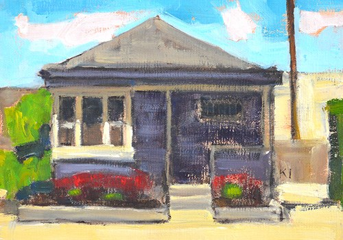 """Purple House Redux"" original fine art by Kevin Inman"