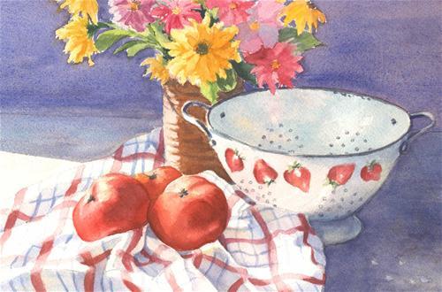 """From the Farmstand ~ Sold"" original fine art by Vikki Bouffard"
