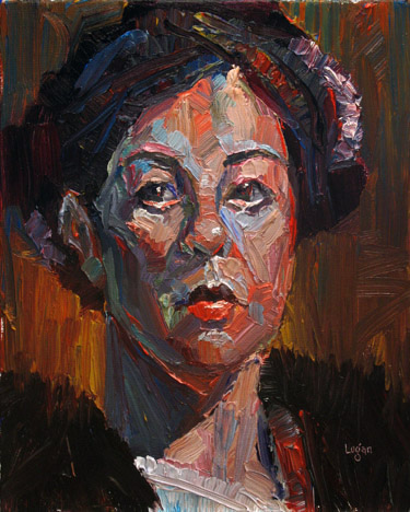 Marissa original fine art by Raymond Logan