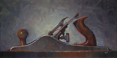 """Stanley No. 5 Plane (The Bigger)"" original fine art by Raymond Logan"