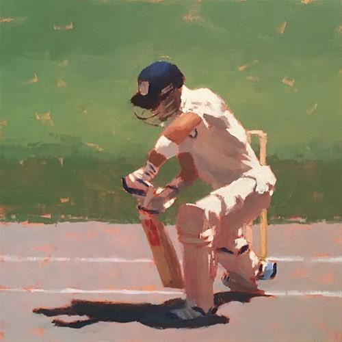 """BATSMAN SERIES #8 of 9"" original fine art by Helen Cooper"