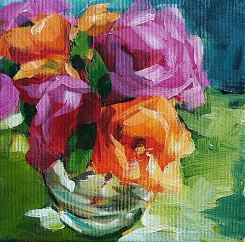 """Roses"" original fine art by Sabine Hüning"