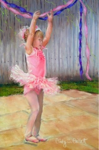 """Backyard Ballet"" original fine art by Cindy Gillett"