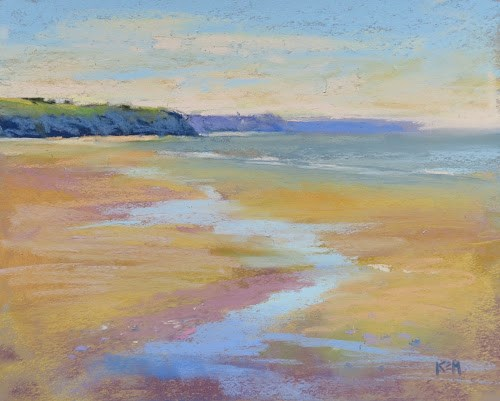 """Painter's Passport France Expedition...Painting the Beach"" original fine art by Karen Margulis"