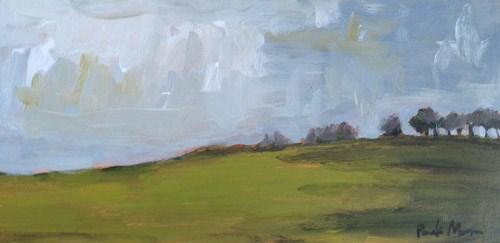 """""""High on the Hill"""" original fine art by Pamela Munger"""