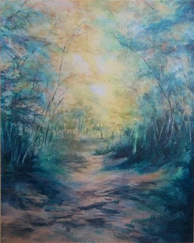 """The Path"" original fine art by Becky Chappell"