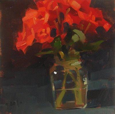 """Begonia Glow"" original fine art by Carol Marine"