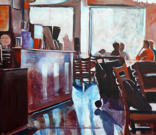 """Serious Coffee"" original fine art by Darlene Young"