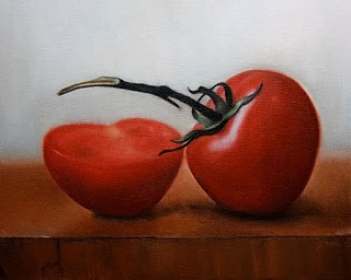 """Tomatoes 1"" original fine art by Jonathan Aller"
