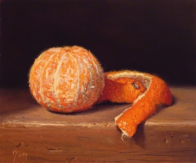 """Clementine with Peel - fundraiser"" original fine art by Abbey Ryan"