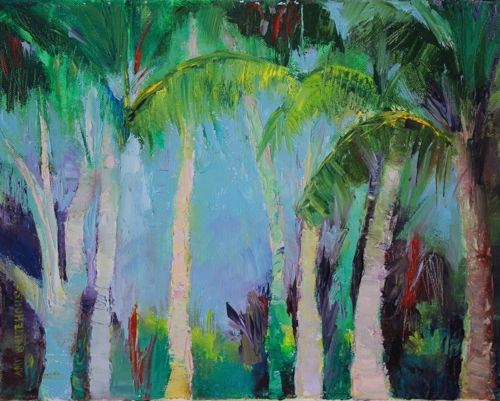 """Today In Paradise, Luke 23:43, Landscape Paintings by Arizona Artist Amy Whitehouse"" original fine art by Amy Whitehouse"