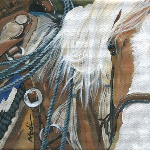 """Palomino"" original fine art by Nadi Spencer"