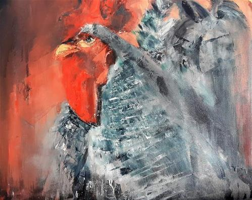 """Roosting at Innibos"" original fine art by Rentia Coetzee"