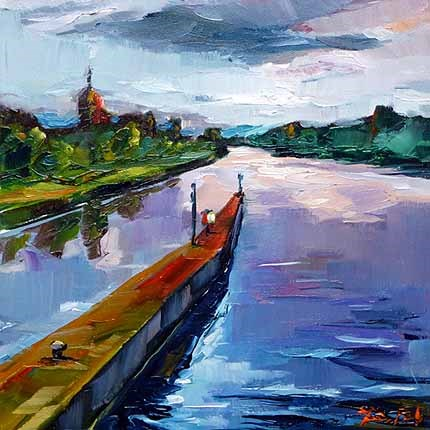 """Neckar"" original fine art by Jurij Frey"