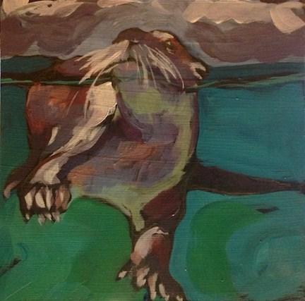 """""""Whiskers Up"""" original fine art by Kat Corrigan"""