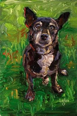 """Buddie"" original fine art by Raymond Logan"
