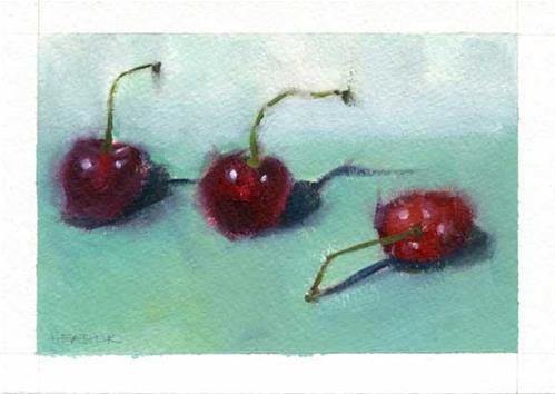 """""""Cherry Down"""" original fine art by Heather Bennett"""
