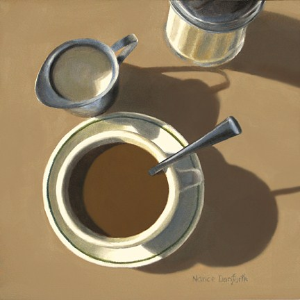 """Coffee With Cream"" original fine art by Nance Danforth"