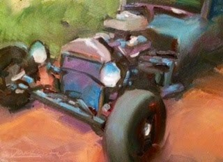 """HOT ROD"" original fine art by Doug Carter"