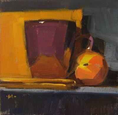 """Reflections in Purple"" original fine art by Carol Marine"