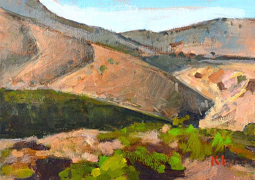 """Mission Trails Landscape"" original fine art by Kevin Inman"