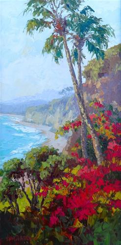 """California Coastline"" original fine art by Erin Dertner"