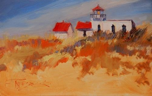 """Point no Point Light House Lighthouse oil painting by Robin Weiss"" original fine art by Robin Weiss"