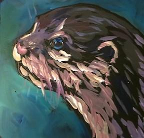"""Otterly Lovely Profile"" original fine art by Kat Corrigan"