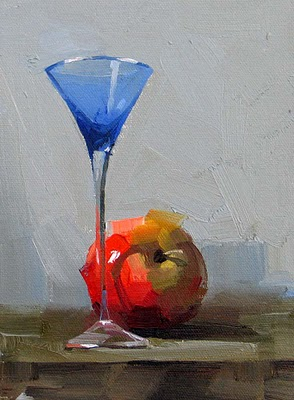 """""""To Your Health"""" original fine art by Qiang Huang"""
