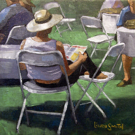 """Chillin'"" original fine art by Linda K Smith"
