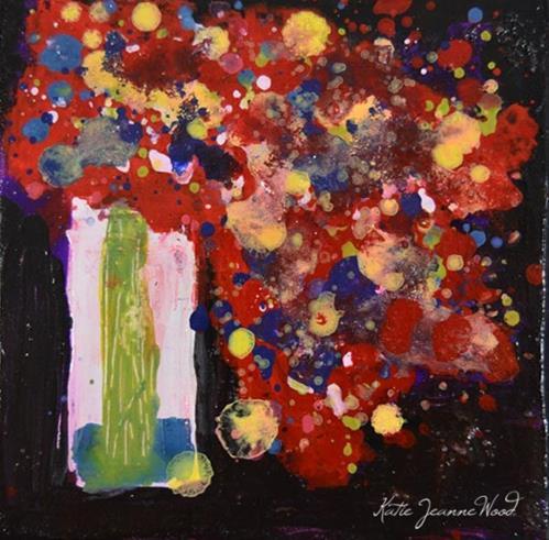 """Floral No 245"" original fine art by Katie Jeanne Wood"