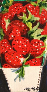 """Berry Good"" original fine art by JoAnne Perez Robinson"