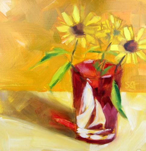 """Vintage red glass"" original fine art by Sandy Haynes"
