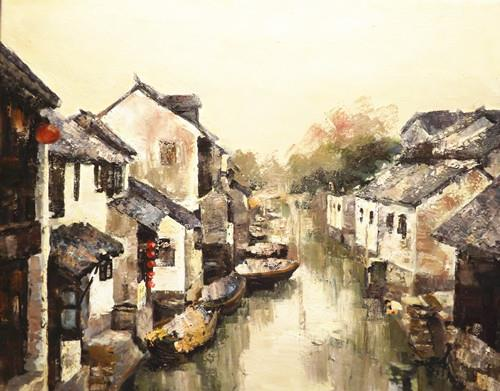 """ZHOU ZHUANG"" original fine art by Run-      Zhang Zane"