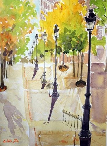 """Montmartre, Paris"" original fine art by Lisa Fu"