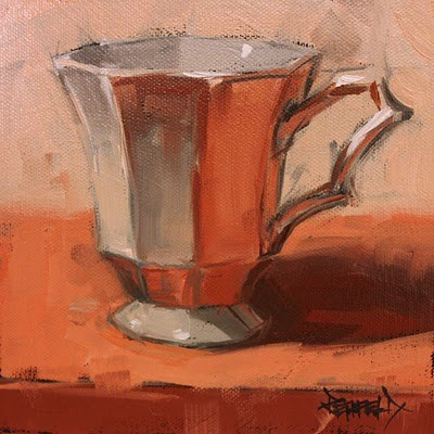 """Glowing Cup"" original fine art by Cathleen Rehfeld"