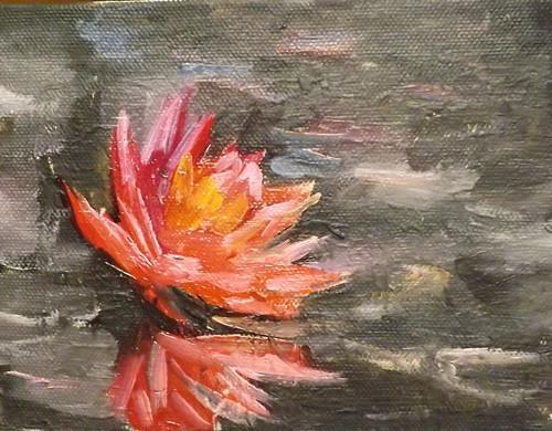 """""""Lotus,U12"""" original fine art by Run-      Zhang Zane"""