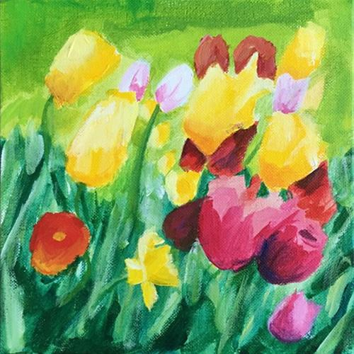 """Tulips"" original fine art by Betsy Cook"