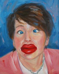 Hot Lips original fine art by Julie Kirkland