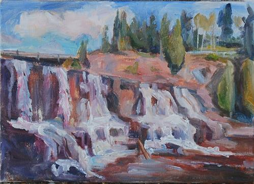 """Gooseberry Falls"" original fine art by Carol DeMumbrum"