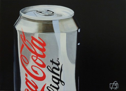 """Coca-Light Deux"" original fine art by Andre Beaulieu"