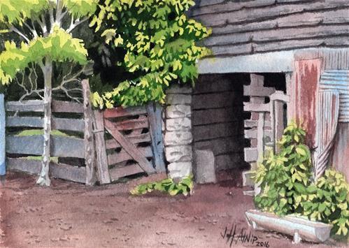 """Stall Under The Barn"" original fine art by Jeff Atnip"