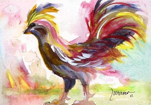 """NEW SHORT SERIES KEY WEST ROOSTERS"" original fine art by Sue Furrow"