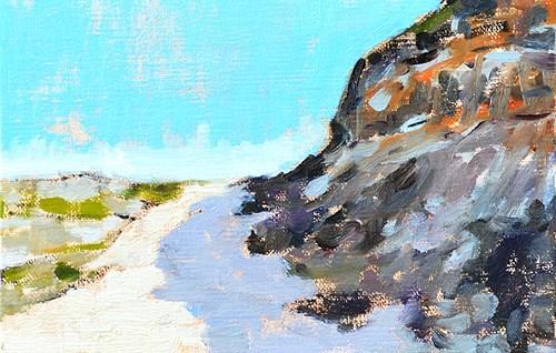 """Torrey Pines, Del Mar, San Diego"" original fine art by Kevin Inman"